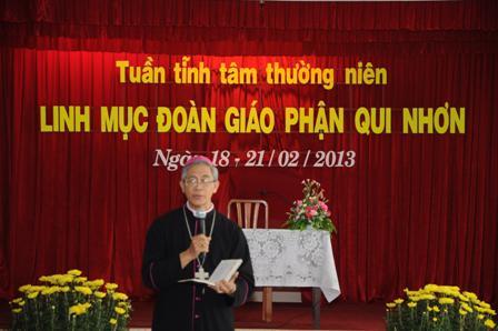 Huấn dụ của ĐGM giáo phận cho các linh mục trong cuộc tĩnh tâm thường niên 2013